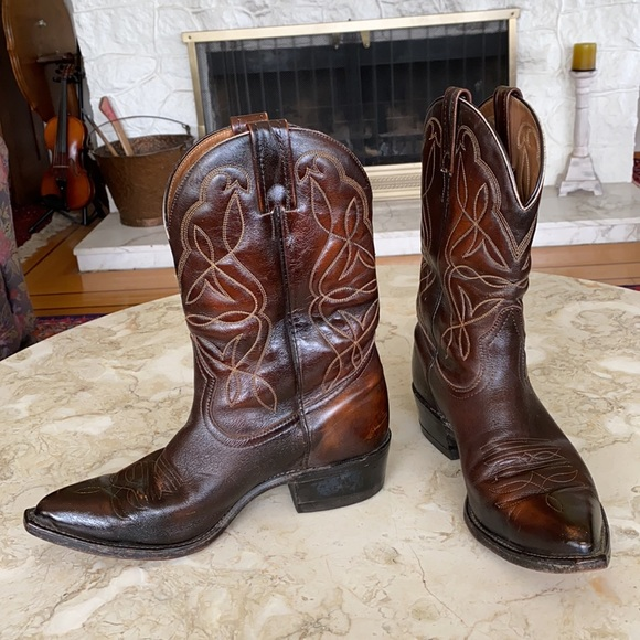 Boulet Made in Canada Vintage Leather Cowboy Boots